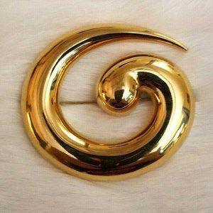 Vtg Napier Spiral Brooch Pin 1624
